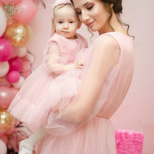 Summer Mother Daughter Macthing Dresses Family Set Mommy and Me Clothes Long Sleeve Women & Girls Dress Photography