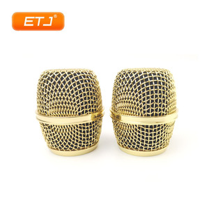 Image 3 - 2pcs Polished Gold Beta87A Mesh Grille Metal Ball For Shure Microphone Accessories Wholesales