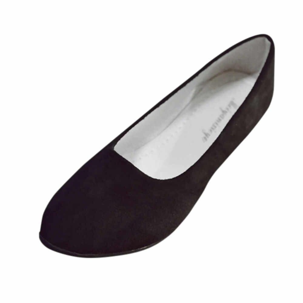 SAGACE รองเท้าแฟชั่นผู้หญิงสุภาพสตรีแบนรองเท้าฤดูร้อนรองเท้าแตะลำลองรองเท้า Ballerina ขนาด 2019