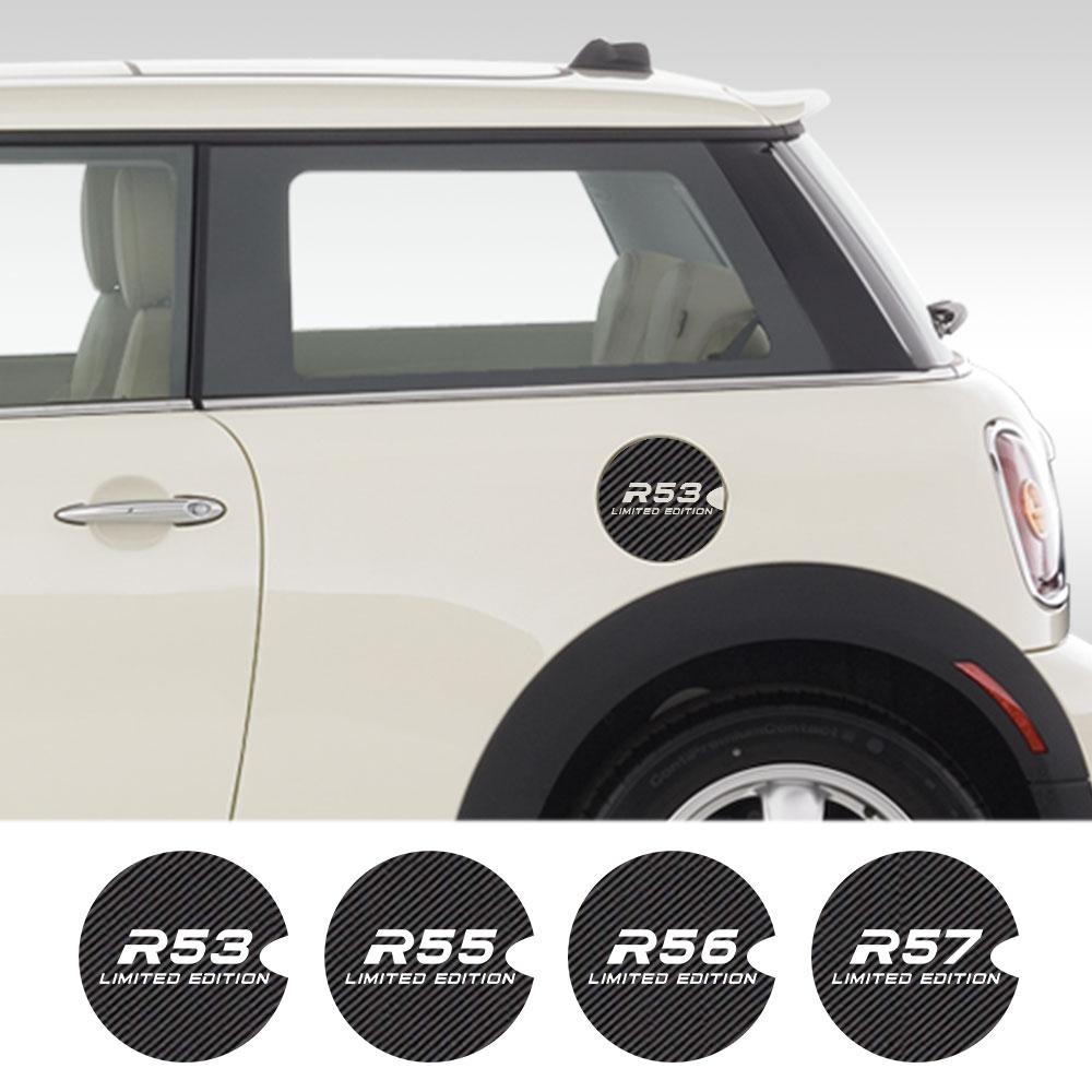 Autocollants de bouchon de réservoir de style de voiture décoration extérieure en Fiber de carbone pour MINI Cooper R55 R56 R57 R58 R60 R61 F54 F56 F57 F60
