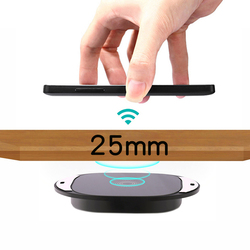 20 мм большое расстояние Быстрое беспроводное зарядное устройство невидимая мраморная настольная мебель стол Скрытая Адсорбция для iPhone 8 X ...