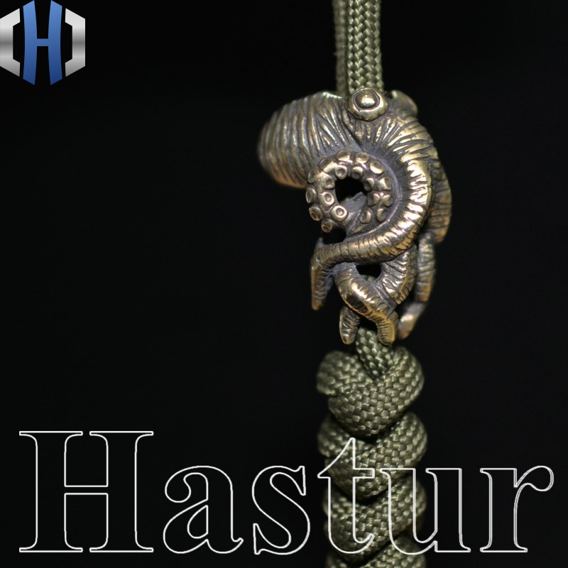 Octopus Knife Beads Brass Squid Beads Umbrella Rope Pendant Vintage Copper Paracord Beads DIY Survival Paracord Beads