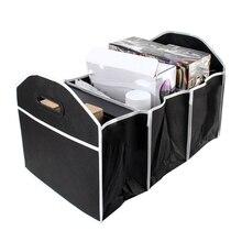 Samochód multi pocket organizator bagażnika o dużej pojemności składana torba do przechowywania bagażnik do układania i porządkowania organizator bagażnika akcesoria samochodowe