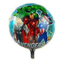 balloons 1pc birthday party decorations adult super hero aluminium foil air ballons birthday party ation(China)
