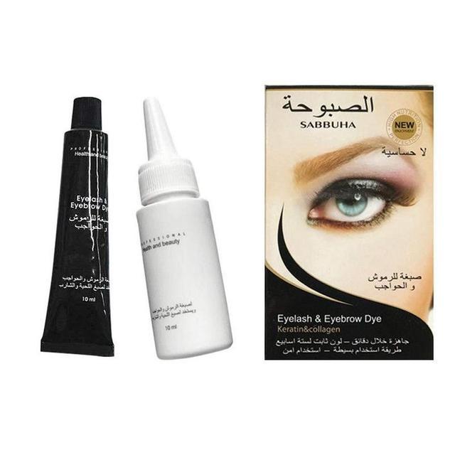 1 Set High Quality Waterproof Professional Eyelash Eyebrow Dye Tint Gel Eye Brow Mascara Cream 1