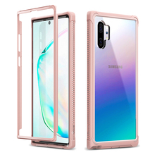 2 in1 Clear hard case for Samsung Galaxy Note10 Plus Case shockproof Bumper case Support Wireless Charging cover for Note10 capa