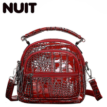 Girls Small Backpack Bags For Women Pu Leather Ladies Single Shoulder Bag High Quality Crocodile Prints Crossbody