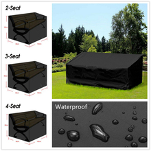 Garden Bench Dustproof Cover Waterproof Breathable Outdoor Bench Seat Cover Black Outdoor Furniture Cover  UV Protection Useful