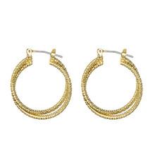 Złote kolczyki koło Vintage spadek kolczyki dla kobiet metalowe modne kolczyki zwisają kolczyki biżuteria Hoop kolczyki 554 tanie tanio CN (pochodzenie) Ze stopu miedzi Kolczyki w kształcie kółek Klasyczny moda Hoop Earrings Circle Earrings Cooper Women s earrings
