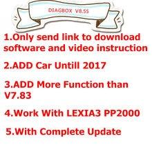 Nova lexia 3 diagbox v9.68 v8.55 v7.83 versão 9.68 adicionar mais modelos de carro para citroen/para peogeot do que v 7.83 lexia3 diagbox 8.55