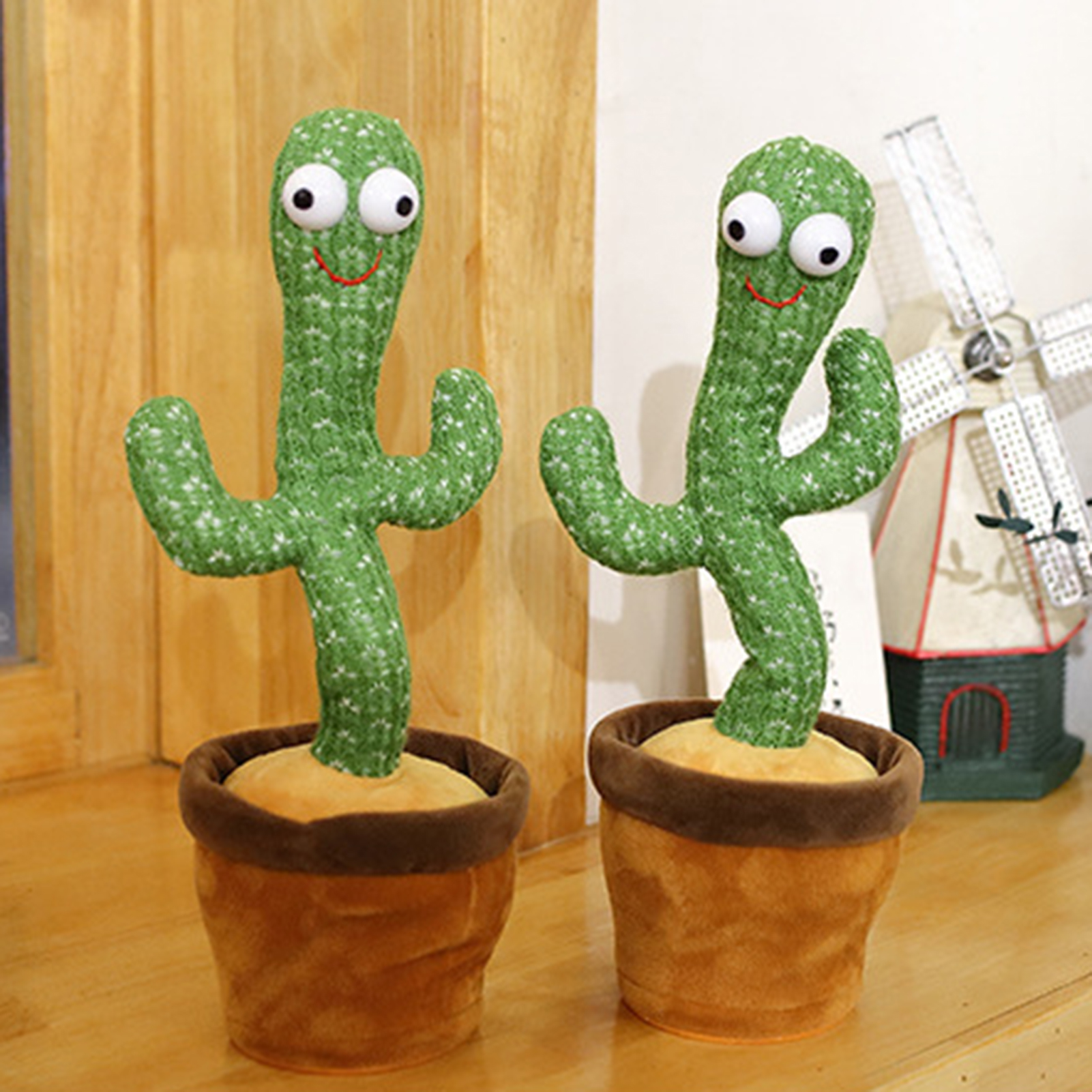 Dancing Cactus Plush Toys Funny Cute Swing Cactus Stuffed Toys Decor Learning Speak Repeat 120 Song Sing Music Lighting Soft Toy