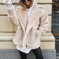 MissyChilli Faux fur patchwork soft suede coat Women autumn short warm basic jacket coat female fluffy teddy winter coat outwear