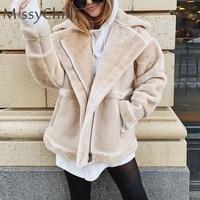 MissyChilli Faux fur patchwork soft suede coat Women autumn short warm basic jacket coat female fluffy teddy winter coat outwear