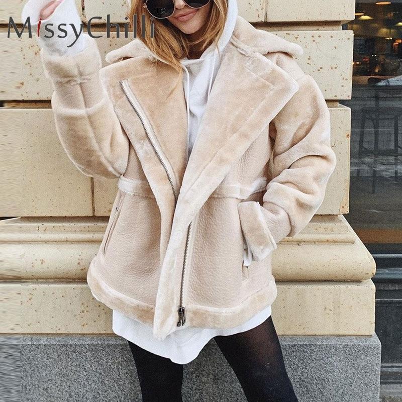MissyChilli fausse fourrure patchwork doux en cuir manteau femmes automne court chaud veste manteau femme moelleux teddy hiver manteau outwear
