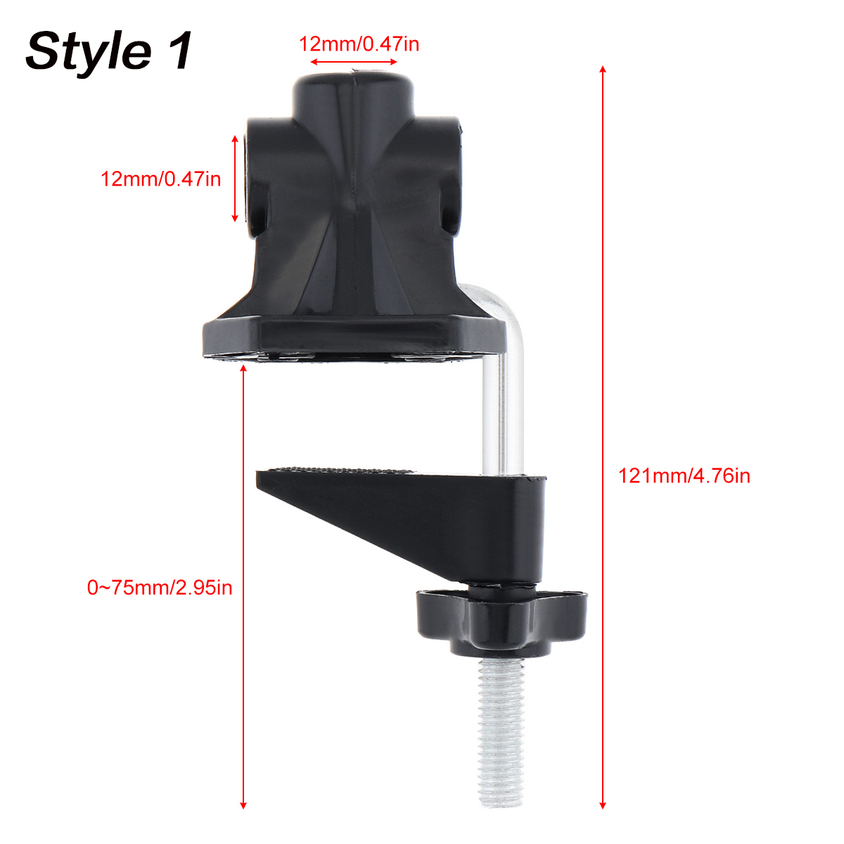 Table Lamp Holder Clamp Fixed Clip 1//2Inches Base Hose DIY Swing Arm Lighting Accessory Metal Clamp