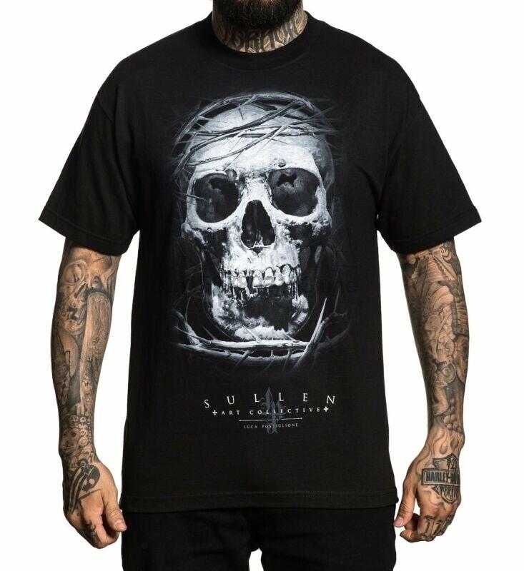 Sullen Art Collective Luca Skull Black Tattoo Artist T Shirt S-3xl New UK(China)