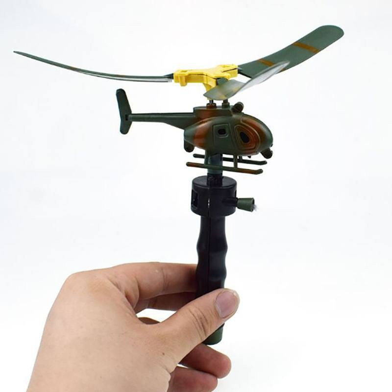 Pull String Helicopter Outdoor Toy 12