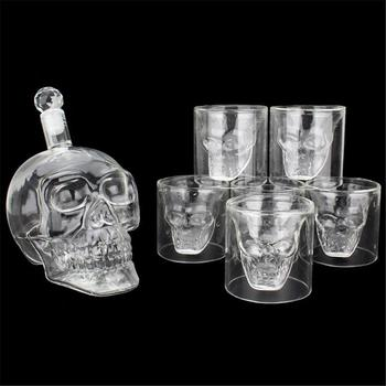 Glass Skull Head Cup Vodka-Shot Whiskey Wine Tea Drinking Shot Bottle Decanter crystal skull head vodka whiskey glass cup