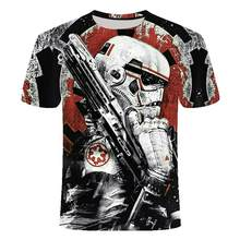 Men's O-Neck Short Sleeve T-Shirt Sci-Fi Fashion Darth Harart Machine 3D Print T-Shirt 2021 Summer New