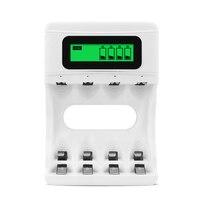 Pantalla LCD herramientas eléctricas inteligente recargable USB cargador de carga de batería cuatro ranuras|Accesorios de batería y accesorios de cargador|Productos electrónicos -
