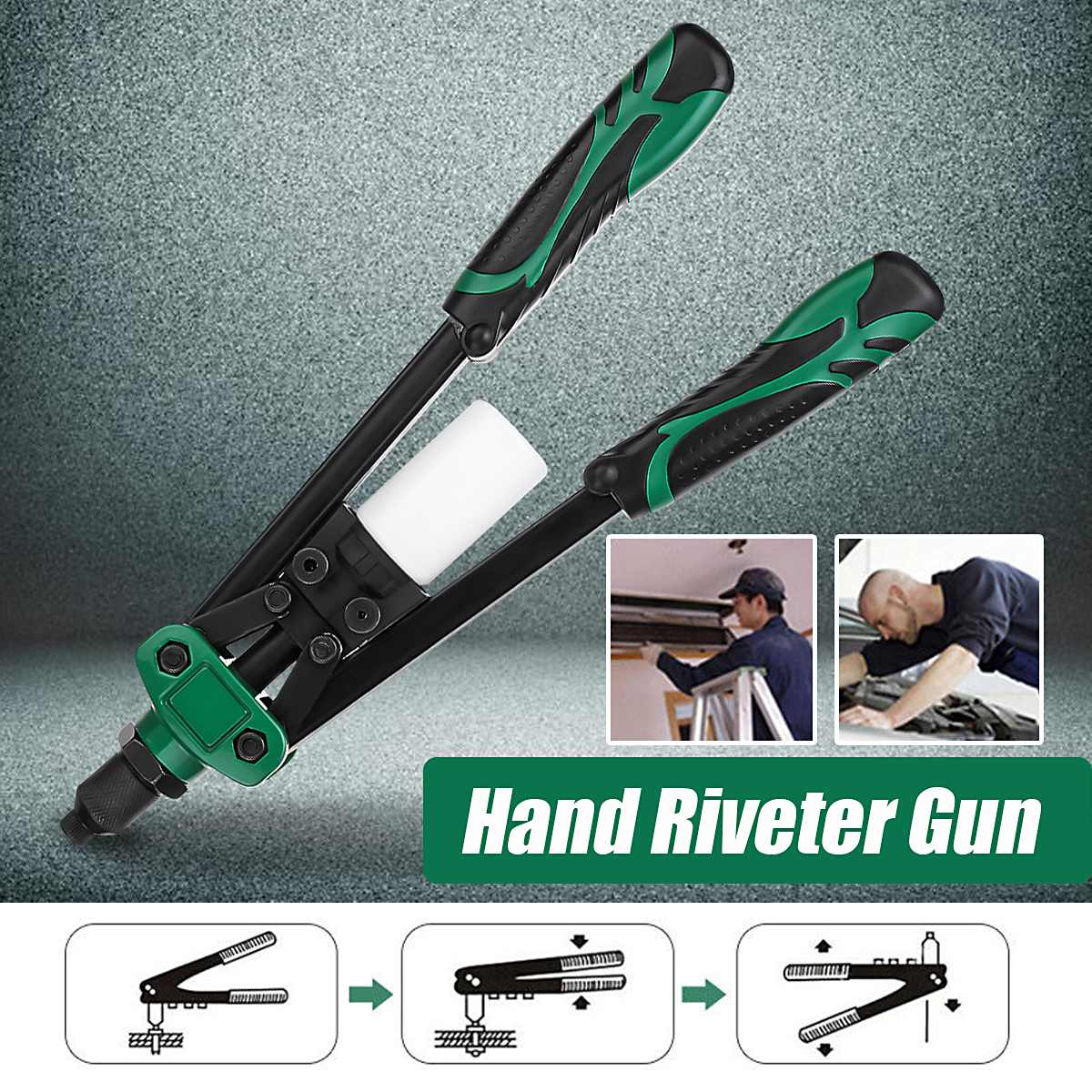 13 Inch Hand Threaded Rivet Nuts Gun Hand Riveter Household Industrial Manual Rivet Tool For 2.4/3.2/4.0/4.8/6.4mm Riveter Head