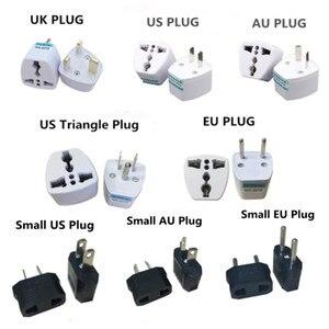 1pcs High Quality Prtical Universal EU UK AU to US USA Power Adapter Travel Plug Converter 2 Flat Pin