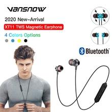 цена на New XT11 Anti-Drop Sport Neckband Magnetic Wireless Earphones Bluetooth Headphones In-Ear Headset with Mic for IPhone Xiaomi