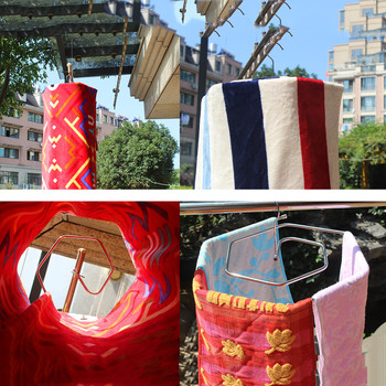 Spiral Shaped Blanket Sheet Hanger Quilt Smart Storage Solution Drain Rack Stainless Steel 5