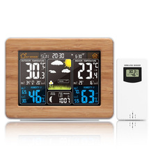 FanJu LCD Digital Weather Station Alarm Clock Electronic Thermometer Hygrometer Wireless Sensor Barometer Home Decoration FJ3365