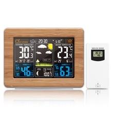 Цифровая метеостанция FanJu с ЖК дисплеем, будильник, электронный термометр, гигрометр, беспроводной датчик, барометр, украшение для дома FJ3365