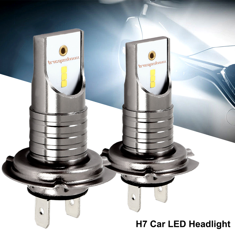 2Pcs LED Xenon H7 Car Headlights Bulb Xenon H7 Lamp High Power For 12V 55W 6000K 12000LM Turbo Led Xenon Auto Headlamp Kit