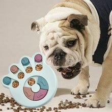 Educational Dog Toys Anti Choke Dog Bowl Puppy Dog Food Dispenser Plastic Food Feeder Funny Pet Puppy Dog Training IQ Toy