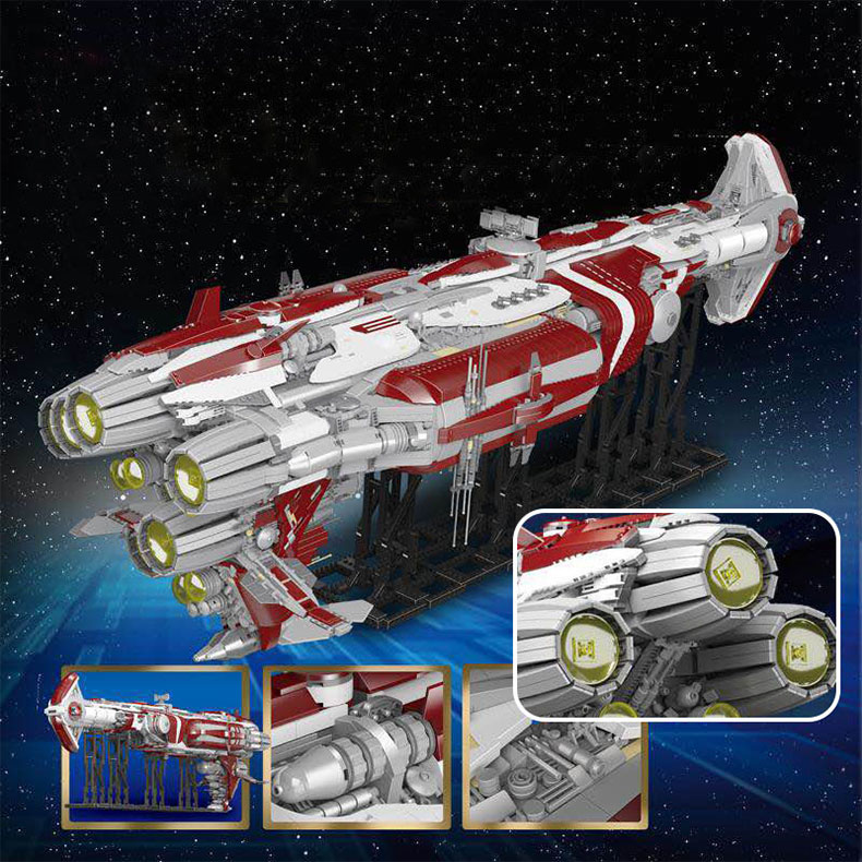 05079 Star Toys Wars The MOC Zenith Old Republic Escort Cruiser Model Compatible With Legoing Building Blocks Kid Christmas Gift 9