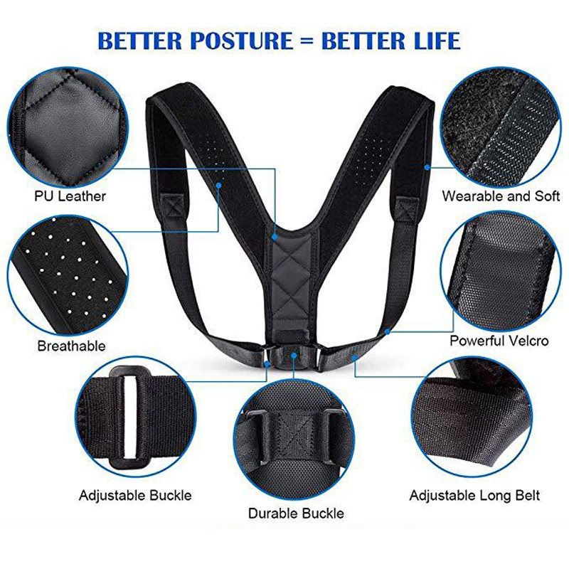 Medical Clavicle Posture Corrector Unisex Adjustable Upper Back Brace Shoulder Lumbar Support Belt Corset Posture Correction