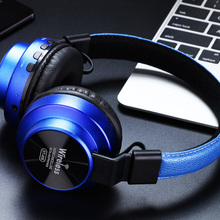 Over Ear Adjustable Stereo Travel Games Bluetooth Universal Anti Noise Wireless Headphones Practical Portable With Microphone
