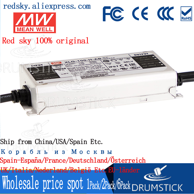 Taiwan MEAN WELL LED Power Supply XLG-100-H-AB Constant Power Outdoor Waterproof Dimmable with PFC Driver