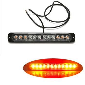 Luz LED de indicador lateral de 24v 12LED para camión, sello de coche, remolque, Faro de distancia RV, luz estroboscópica blanca Lamp12V-24V