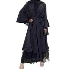 Новый мусульманский модный кардиган «абайя» платье Дубай арабские