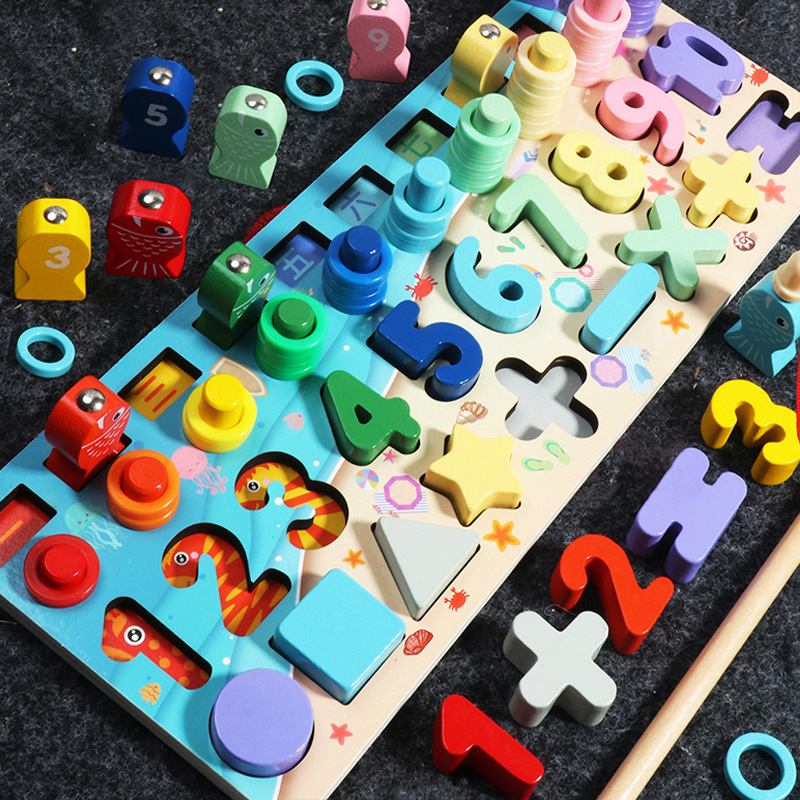 New Children Eduactional Toys Multi-function Logarithmic Board Montessori Educational Wooden Toys For Children Wooden Math Toys
