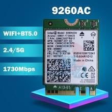 Wifi-карта для Intel Dual Band AC 9260 9260NGW 9260AC 1,73 Гбит/с NGFF Key A E 802.11ac Bluetooth 5,0 для Windows 10 Wifi-карты