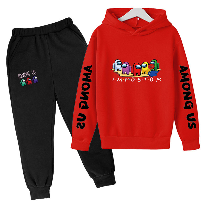 4-14 Y Girls Clothing Among Us Sets Autumn Winter Boys Girls Clothes Printing Outfit Kids Print Tracksuit For Boys Children Set 2