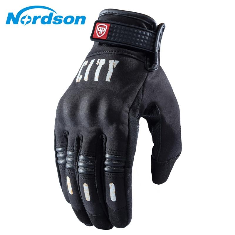 Nordson Winter Warm Motorcycle Gloves Touch Screen Waterproof Windproof Protective Gloves Men Women Motorbike Moto Racing Riding