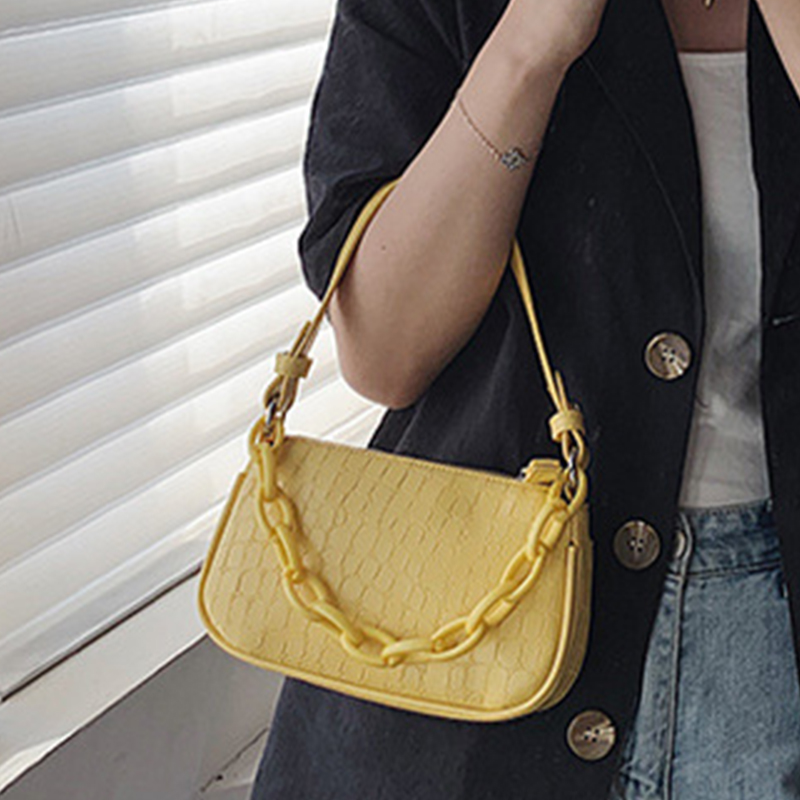 Fashion Mini Bag Women's 2020 Sac A Main Female Handbag Casual Simple Shoulder Crossbody Bag Stone Pattern Underarm Bag
