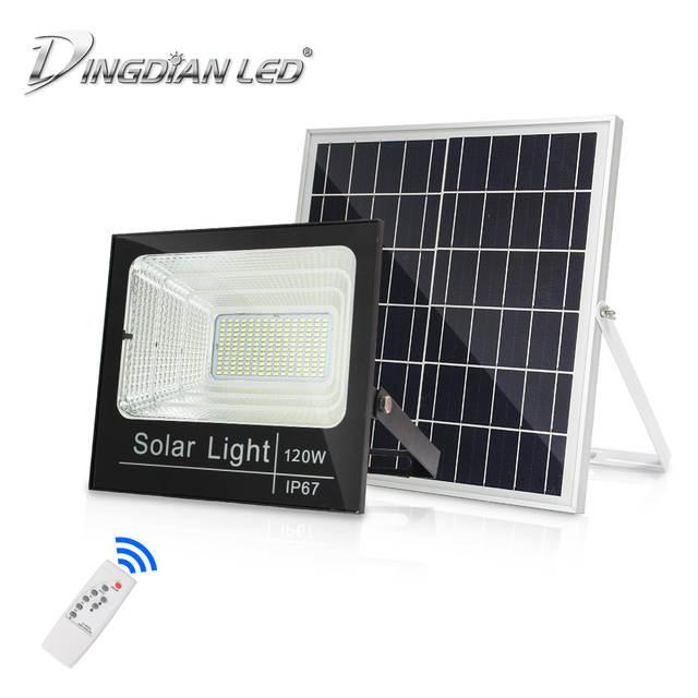 Solar Led Flood Light Pir Remote