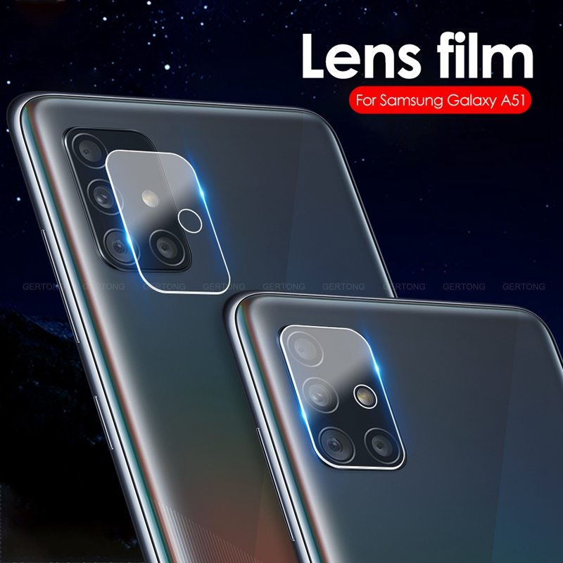 2Pcs Camera Lens Tempered Glass For Samsung Galaxy A51 A71 S20 Ultra Plus Screen Protector Back Lens Film For Galaxy S20+