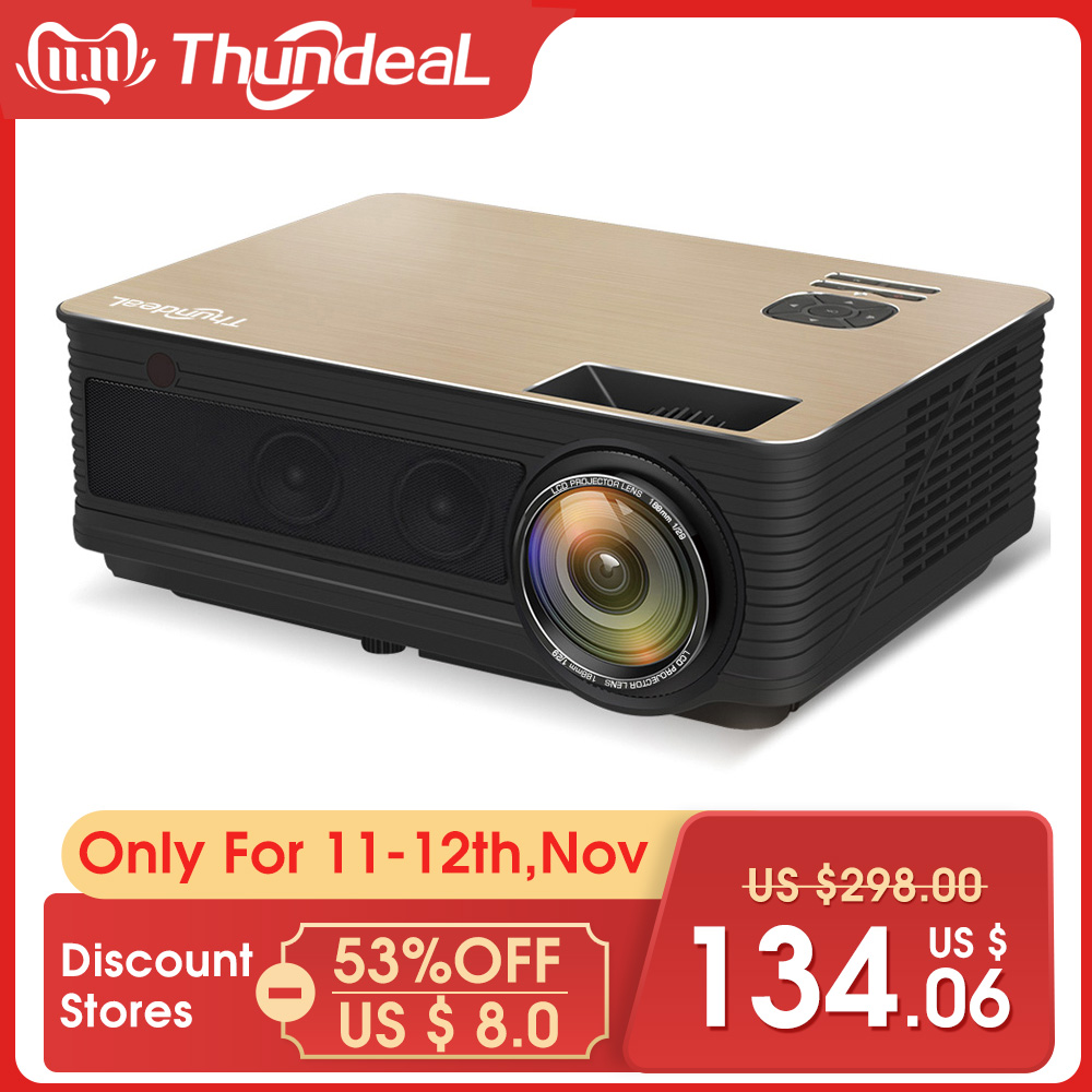 ThundeaL HD Projector TD86 4000 Lumen Android 6.0 WiFi Bluetooth Projector Support Full HD 1080P LED M5 M5W 3D Video Projector-in LCD Projectors from Consumer Electronics