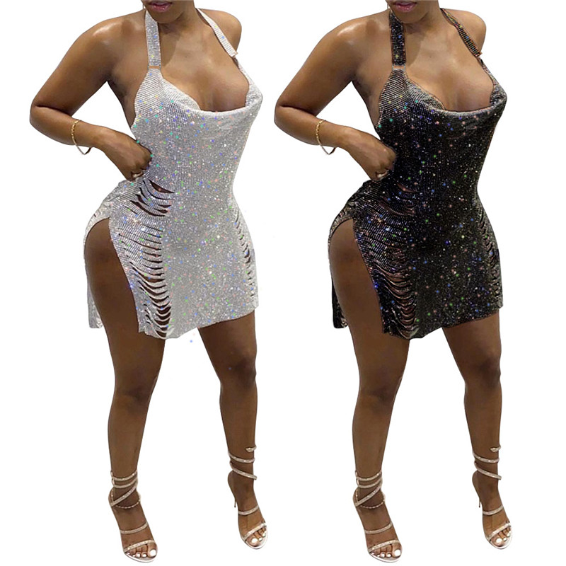 Party Dresses Sequin Plus Size Women's Dress 2021 Summer Birthday Outfits Sexy Bodycon Dress Party Evening Night Club Dresses|Dresses| - AliExpress