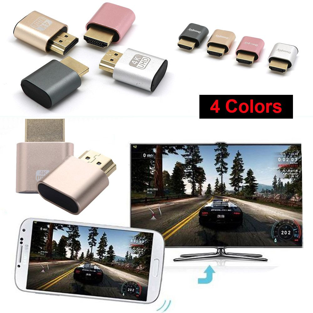 High Quality Mini VGA Virtual Display Adapter HDMI 1.4 DDC EDID Dummy Plug Display Emulator