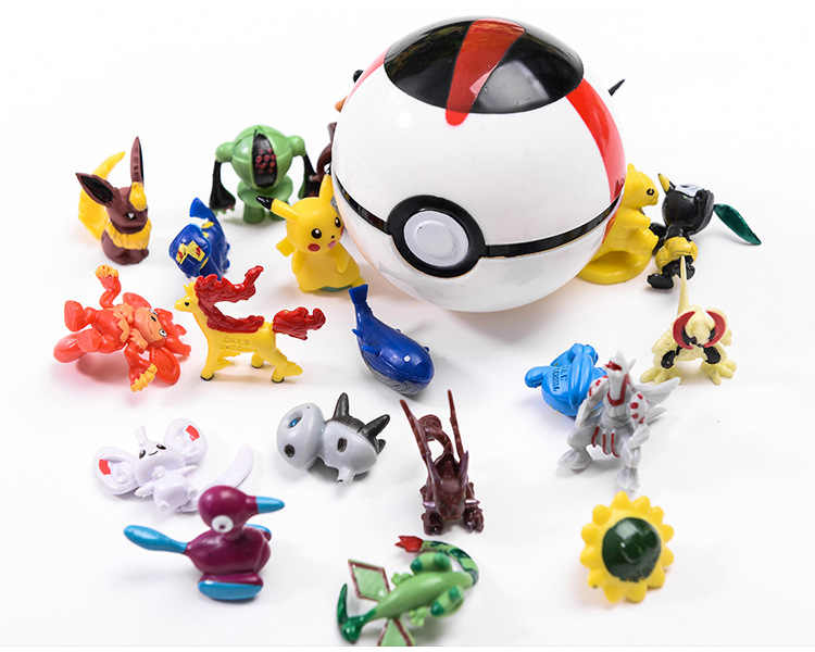Juguete para niños pokemon Ball figura de acción dibujos animados Pop-up Pikachu deformación Pokeball Monster gran bola Ultra mezalls Reversible