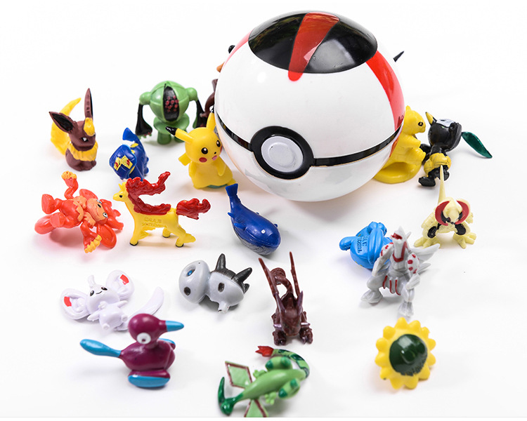 Kids Toy Pokemon Ball Action Figure Cartoon Pop-up Pikachu Deformation Pokeball Monster  Great Ultra Metaballs Reversible Ball
